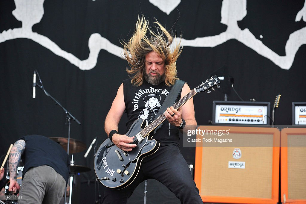 Guitarist Pepper Keenan of American heavy metal group Down performing live on the Main Stage at Download Festival on June 14, 2013.