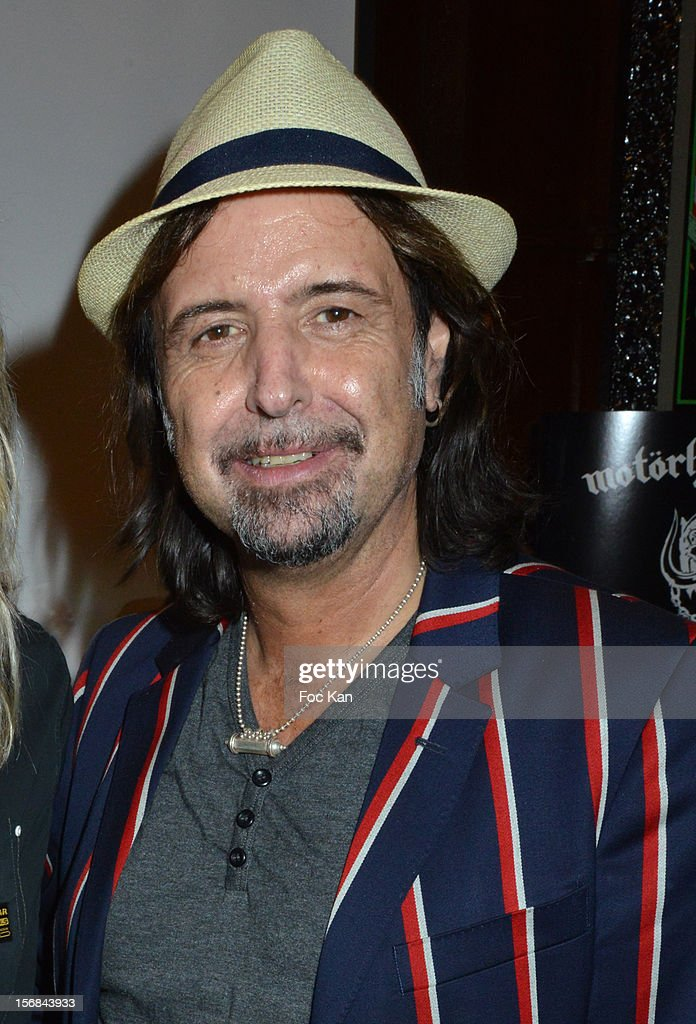 Guitarist Phil Campbell from Motorhead band attends 'Motorheadphones' Press Conference at the Hard Rock Cafe on November 22, 2012 in Paris, France.