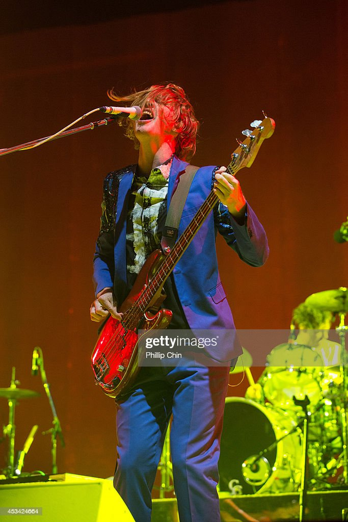 Guitarist Richard Reed Parry of Arcade Fire performs at Squamish Valley Music Festival on August 9, 2014 in Squamish, Canada.