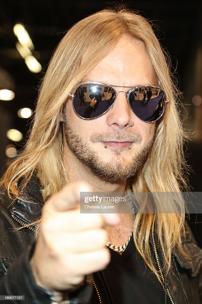 Guitarist Richie Faulkner of Judas Priest attends the 2013 NAMM show at Anaheim Convention Center on January 25, 2013 in Anaheim, California.