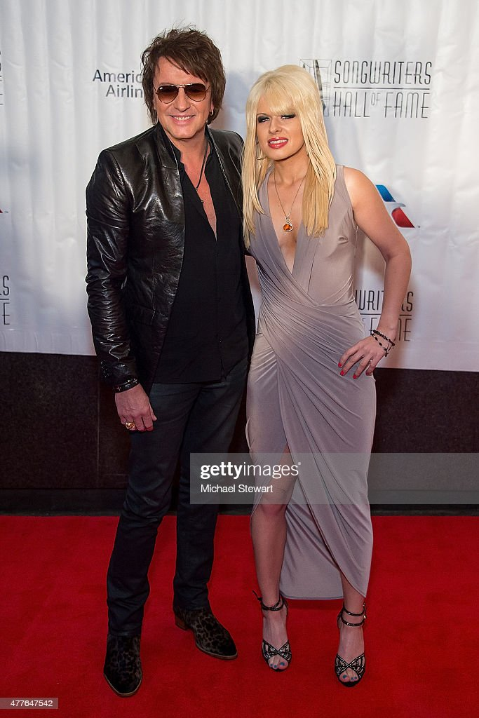 Guitarist Richie Sambora (L) and Orianthi Panagaris attend the Songwriters Hall of Fame 46th Annual Induction and Awards at Marriott Marquis Hotel on June 18, 2015 in New York City.