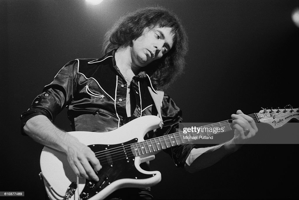Guitarist Ritchie Blackmore performing with British rock group Rainbow, USA, May 1978.