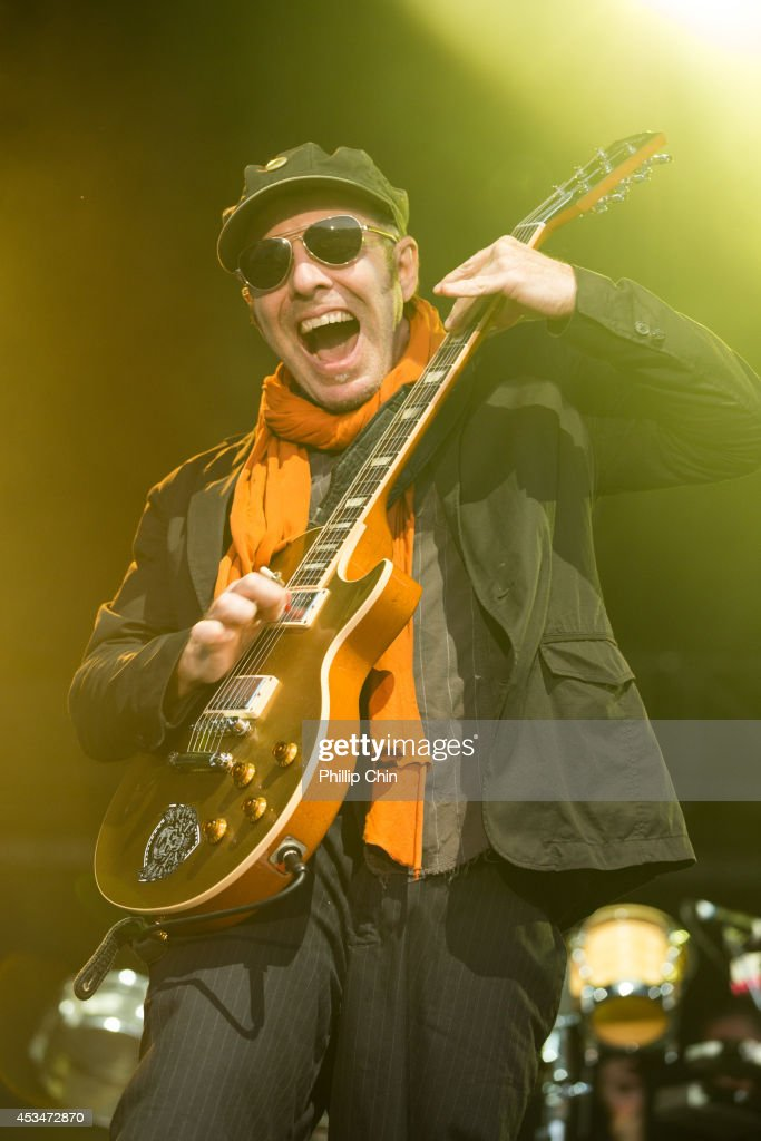 Guitarist Rob Meyers of Thievery Corporation performs at the Squamish Valley Music Festival on August 10, 2014 in Squamish, Canada.