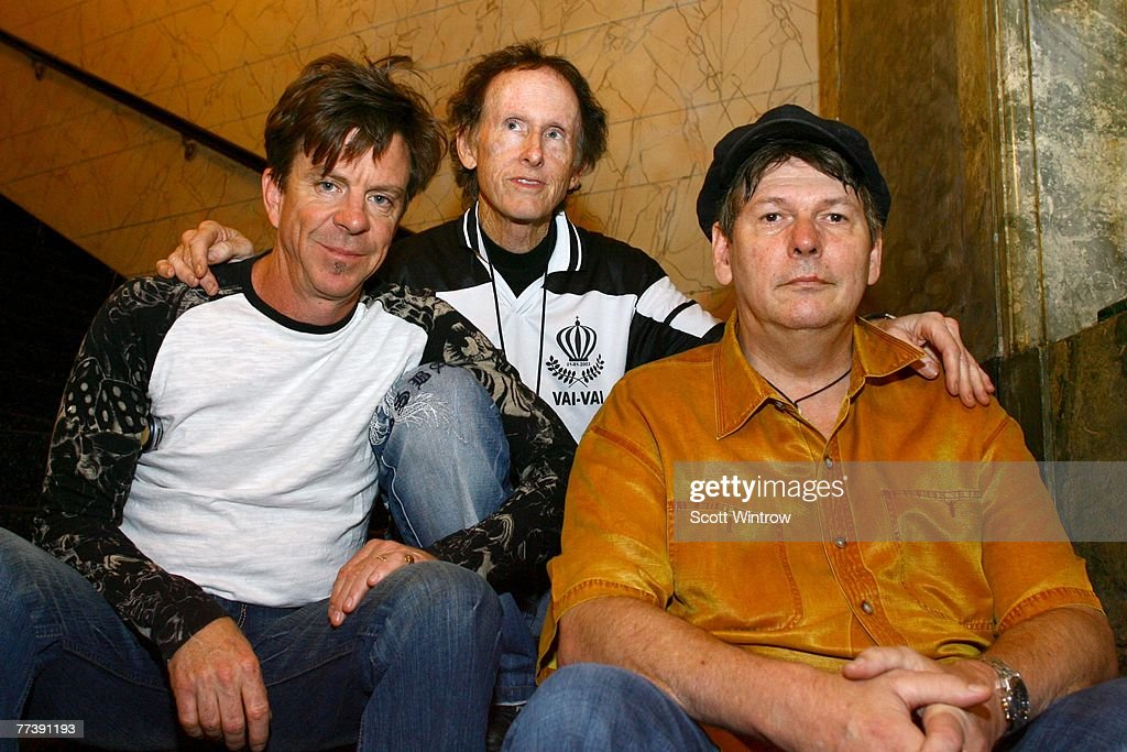 Guitarist Robbie Kreiger (C) of The Doors and (L-R) former members of
