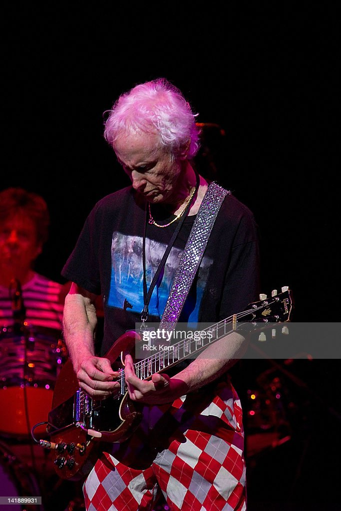 Guitarist <a gi-track='captionPersonalityLinkClicked' href=/galleries/search?phrase=Robby+Krieger&family=editorial&specificpeople=1846343 ng-click='$event.stopPropagation()'>Robby Krieger</a> of The Doors performs as part of the Experience Hendrix Tribute at ACL Live on March 24, 2012 in Austin, Texas.