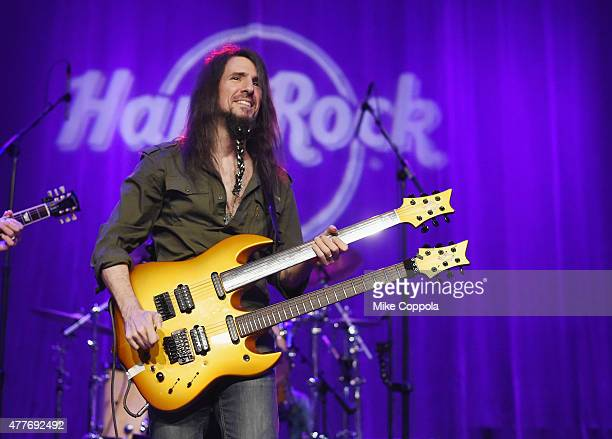 Guitarist Ron 'Bumblefoot' Thal performs at Big Kids Rock New York 2015 A Battle of the Bands to Benefit Little Kids Rock at Hard Rock Cafe Times...