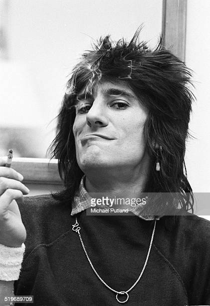 Guitarist Ronnie Wood of the Rolling Stones at the Plaza hotel New York during his 'New Barbarians' tour with Keith Richards 1979