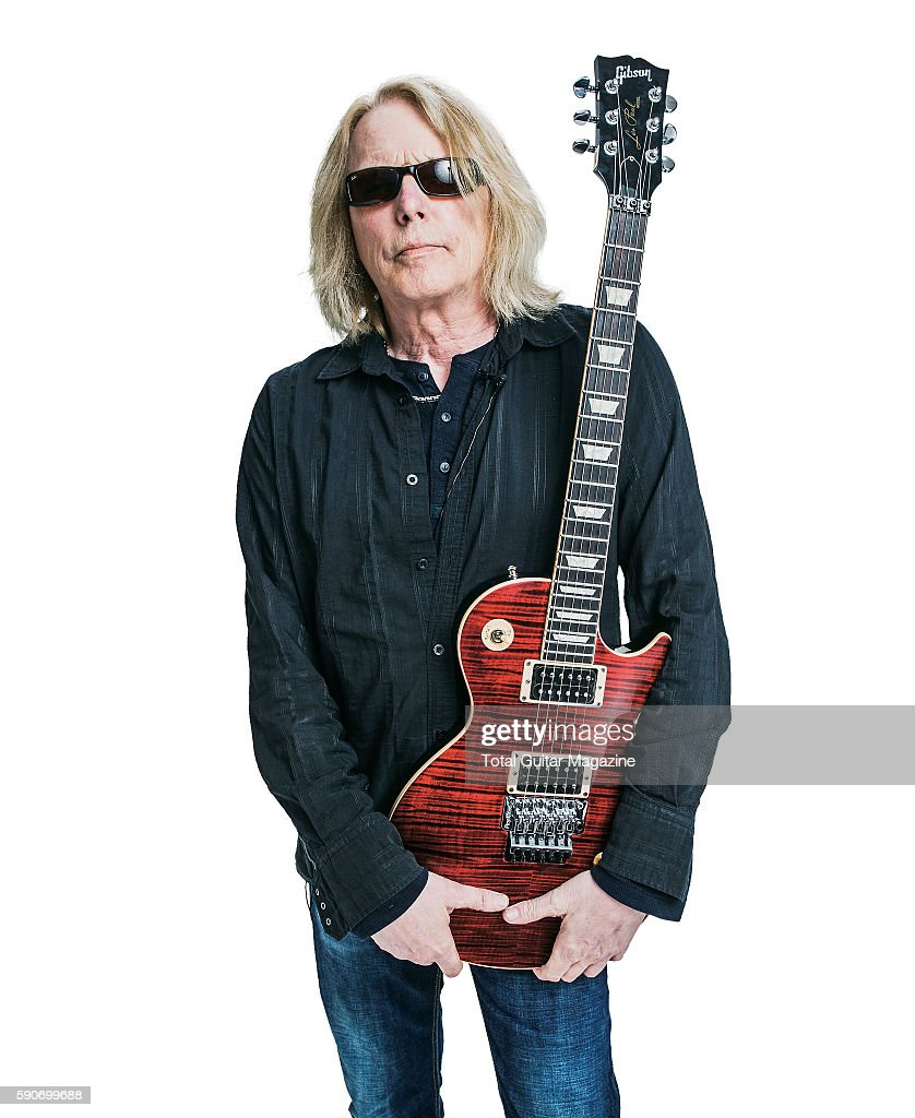 Guitarist Scott Gorham of rock group Black Star Riders photographed backstage at Download Festival on June 13 2015
