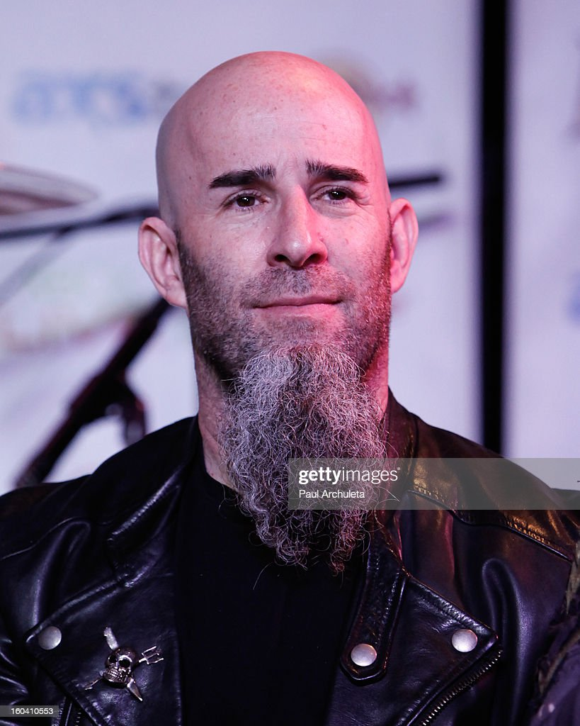 Guitarist <a gi-track='captionPersonalityLinkClicked' href=/galleries/search?phrase=Scott+Ian&family=editorial&specificpeople=208132 ng-click='$event.stopPropagation()'>Scott Ian</a> of the Metal Band Anthrax attends the 5th annual Revolver Golden Gods Awards nominee announcements at the Hard Rock Cafe Hollywood on January 30, 2013 in Hollywood, California.