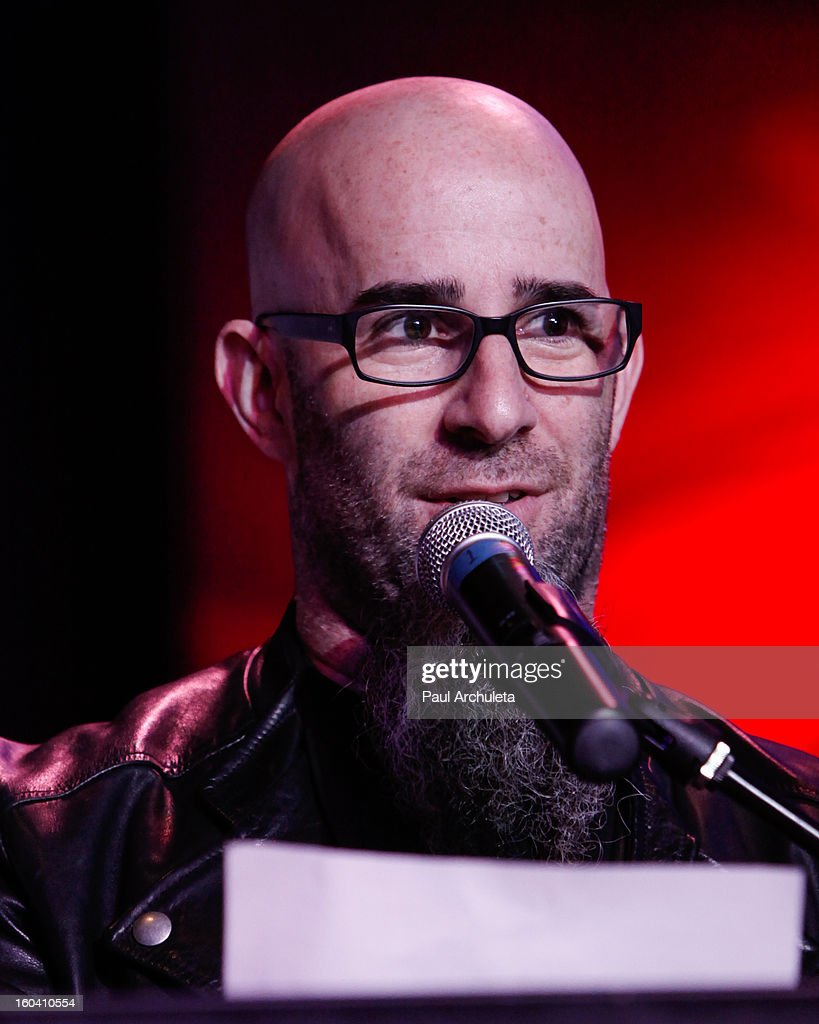 Guitarist Scott Ian of the Metal Band Anthrax attends the 5th annual Revolver Golden Gods Awards nominee announcements at the Hard Rock Cafe Hollywood on January 30, 2013 in Hollywood, California.