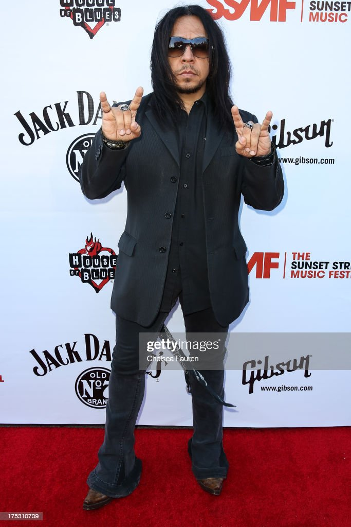 Guitarist Sin Quirin of Ministry arrives at the 6th annual Sunset Strip Music Festival launch party honoring Joan Jett at House of Blues Sunset Strip on August 1, 2013 in West Hollywood, California.