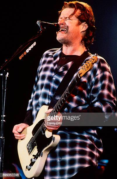 Guitarist singer Don Henley plays and sings with The Eagles on their 'Hell Freezes Over' tour of 1995 The Eagles were the most popular band of the...