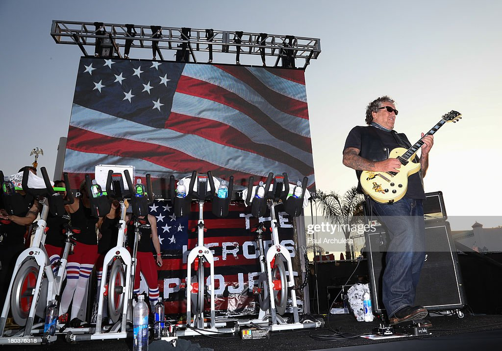 Guitarist Steve Jones attends the Cycle For Heroes: A Rock Inspired Ride on at the Santa Monica Pier on September 11, 2013 in Santa Monica, California.