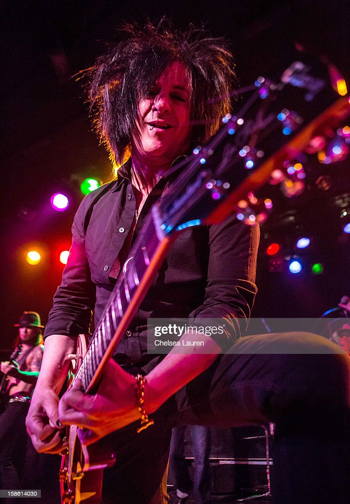Guitarist Steve Stevens performs at the Camp Freddy holiday residency at The Roxy Theatre on December 20, 2012 in West Hollywood, California.