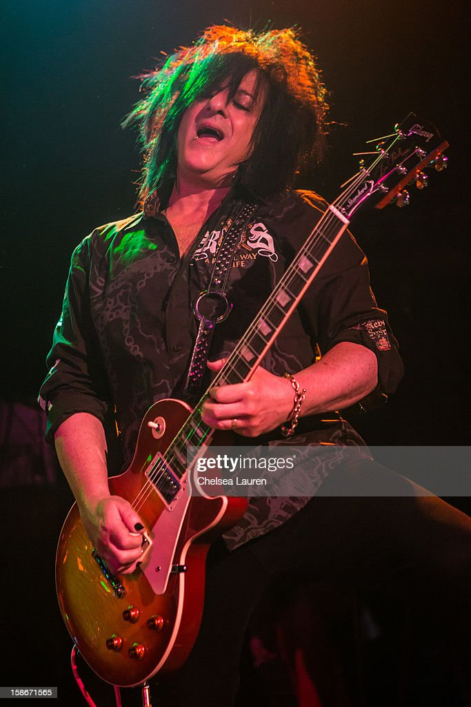 Guitarist Steve Stevens performs at the Camp Freddy holiday residency at The Roxy Theatre on December 22, 2012 in West Hollywood, California.
