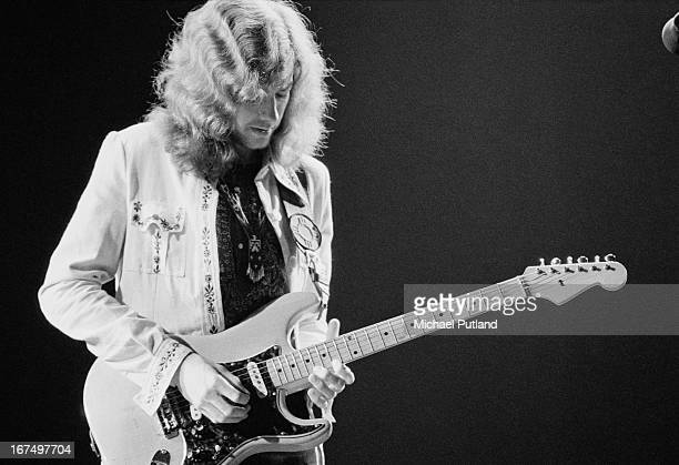 Guitarist Ted Turner performing with British rock group Wishbone Ash at the Rainbow Theatre London 11th January 1973