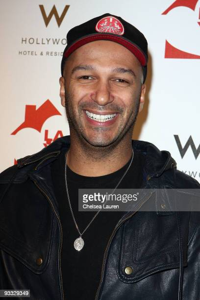 Guitarist Tom Morello of Street Sweeper Social Club arrives at the Los Angeles Youth Network benefit concerts at Avalon on November 22 2009 in...