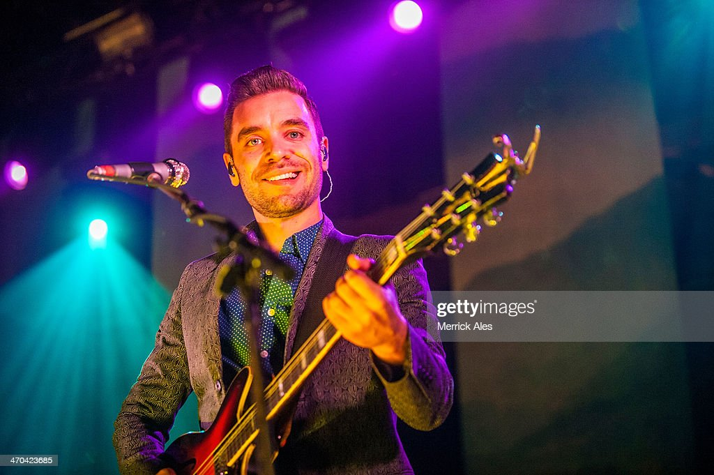 Guitarist Tom Renaud of Lord Huron perfoms at Emo's on February 18, 2014 in Austin, Texas.
