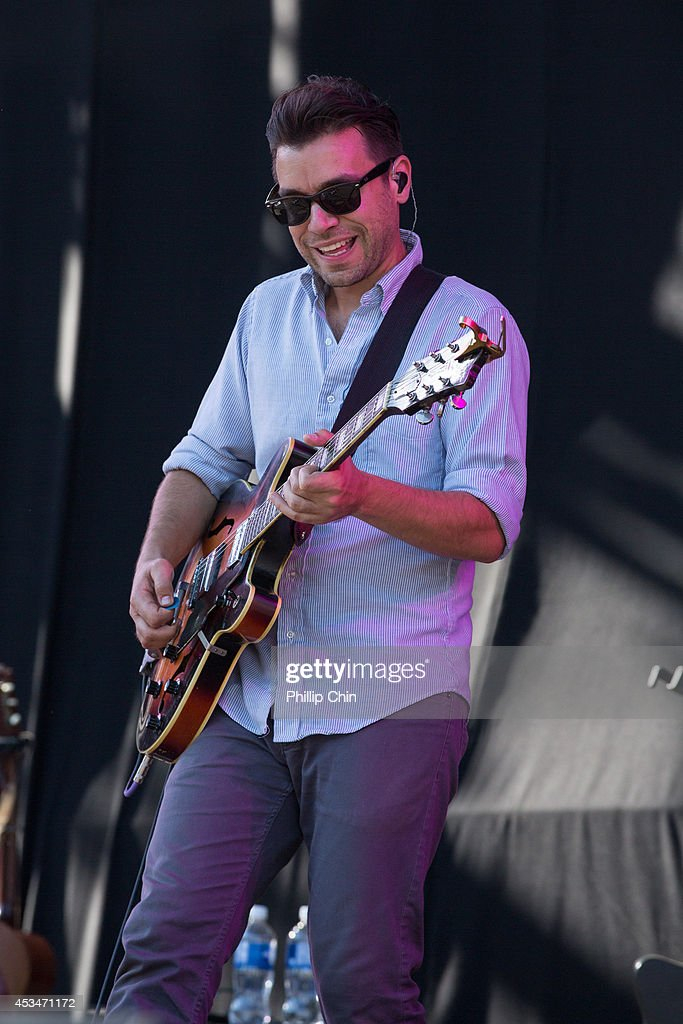 Guitarist Tom Renaud of Lord Huron performs at the Squamish Valley Music Festival on August 10, 2014 in Squamish, Canada.