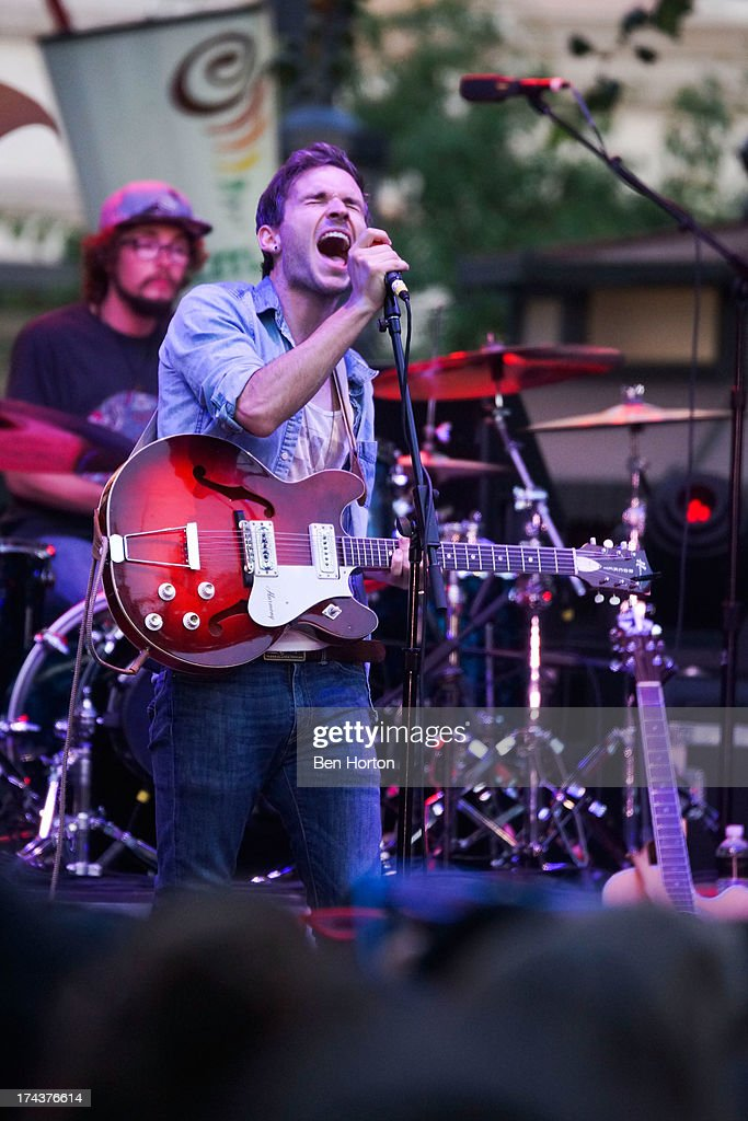 Guitarist Tyler Bancroft of Said the Whale performs at the 2013 Grove summer concert series at The Grove on July 24, 2013 in Los Angeles, California.