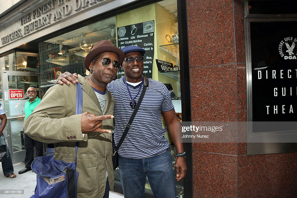 Guitarist Vernon Reid and actor Wesley Snipes attend Spike Lee's 'Da Sweet Blood Of Jesus' cast and crew special screening at DGA Theater on June 23, 2014 in New York City.