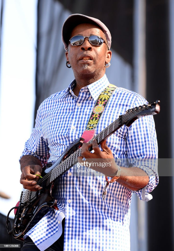 Guitarist Vernon Reid of Living Colour performs during the Life is Beautiful festival on October 27, 2013 in Las Vegas, Nevada.