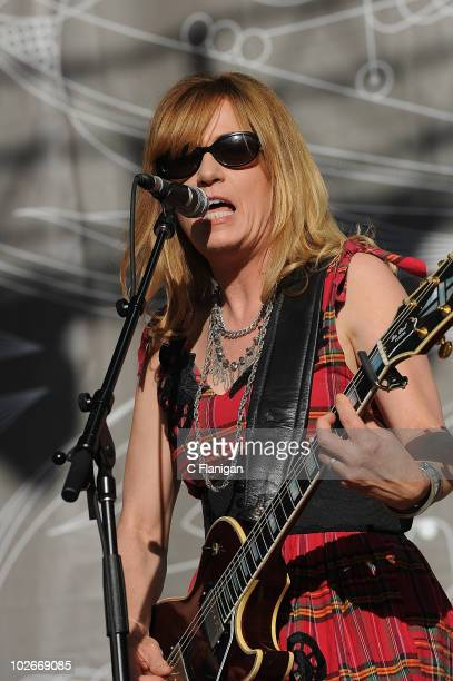 Guitarist Vicki Peterson of The Bangles performs during the 2010 Lilith Fair at the Shoreline Amphitheatre on July 5 2010 in Mountain View California
