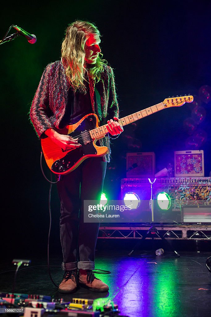 Guitarist / vocalist Andrew Wessen of Grouplove performs at Gibson Amphitheatre on November 24, 2012 in Universal City, California.