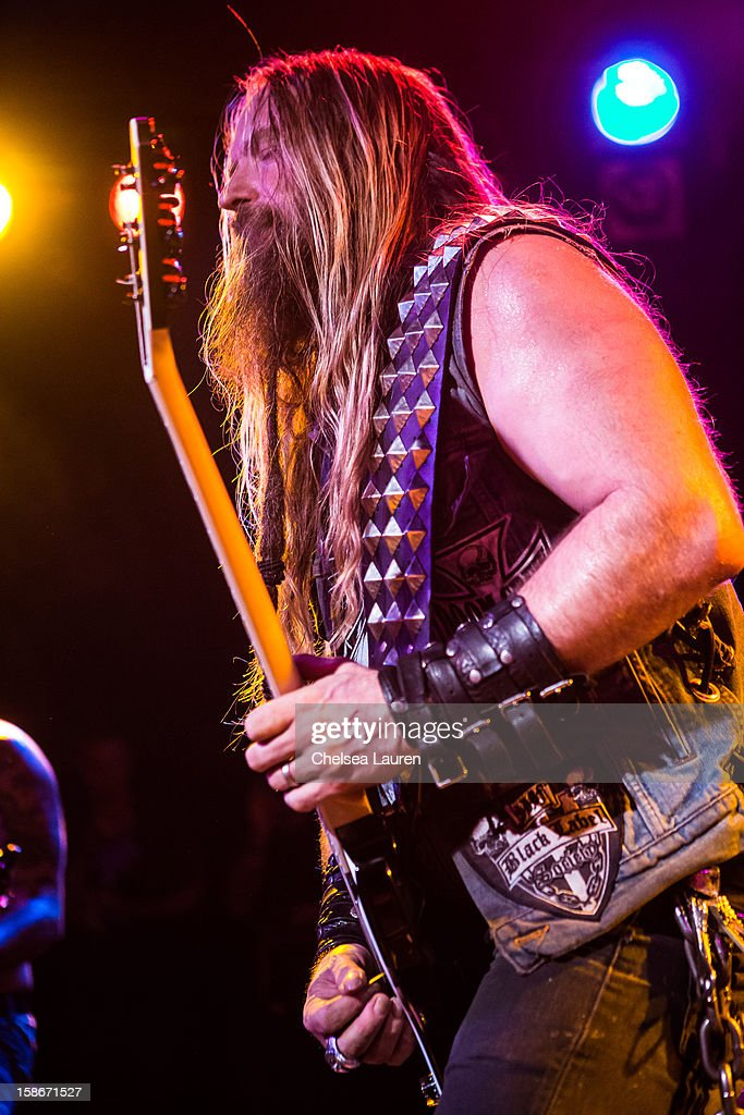 Guitarist / vocalist Zakk Wylde performs at the Camp Freddy holiday residency at The Roxy Theatre on December 22, 2012 in West Hollywood, California.