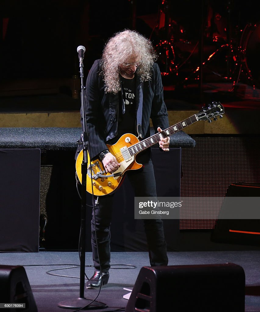 Guitarist Waddy Wachtel performs during the grand opening of Park Theater at Monte Carlo Resort and Casino on December 17, 2016 in Las Vegas, Nevada.