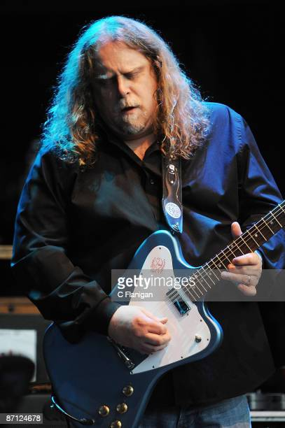 Guitarist Warren Haynes of The Dead performs at the Shoreline Amphitheatre on May 10 2009 in Mountain View California