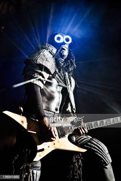 Guitarist Wes Borland of Limp Bizkit performs at the Epicenter Rock Festival at Verizon Wireless Amphitheater on September 24 2011 in Irvine...