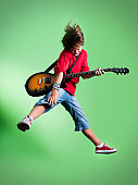 Guitarist with Clipping Path