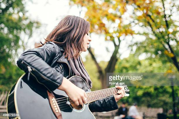 Guitarist Woman in Washington Square Park