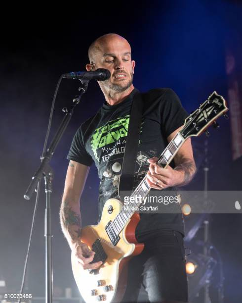 Guitarist Zach Blair of Rise Against performs at Concord Pavilion on July 6 2017 in Concord California