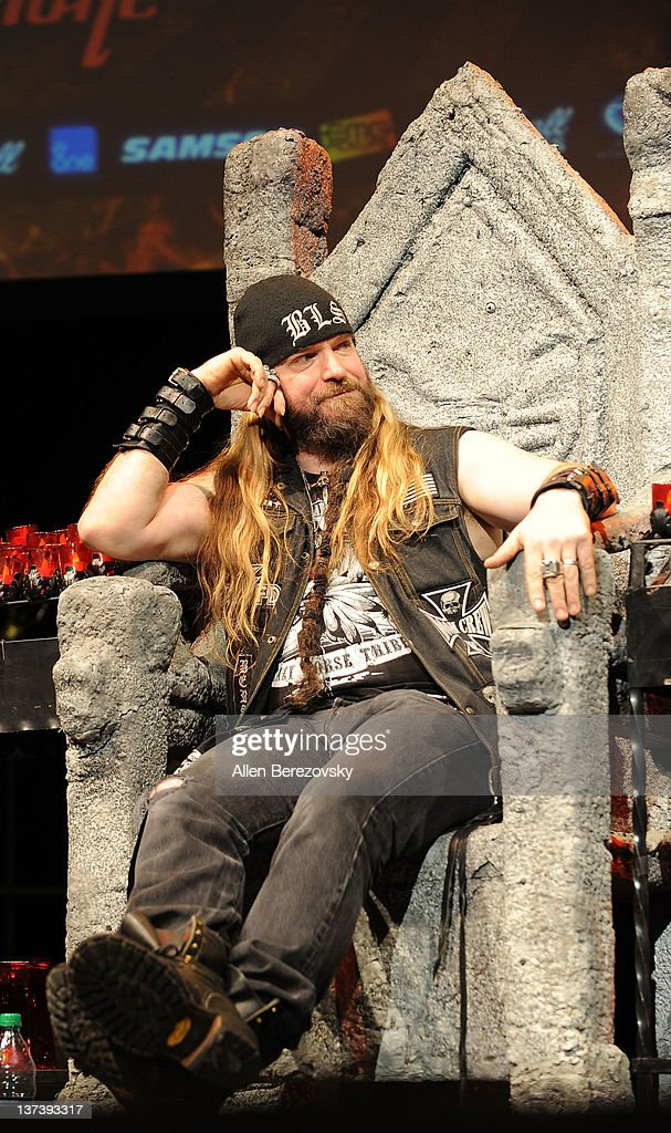 Guitarist Zakk Wylde gets roasted at the Guitar World's Rock & Roll roast of Zakk Wylde at City National Grove of Anaheim on January 19, 2012 in Anaheim, California.