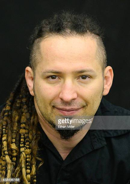 Guitarist Zoltan Bathory of Five Finger Death Punch appears at Nellis Air Force Base as the band highlights its campaign to raise awareness about...