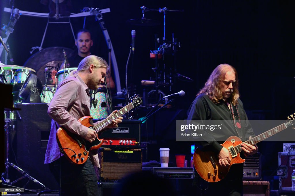 Guitarists Derek Trucks and Warren Haynes perform at Beacon Theatre on March 1, 2013 in New York City.