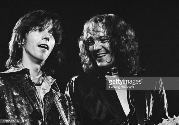 British musicians Jimmy McCulloch and Steve Marriott performs with the Small Faces UK 26th September 1977