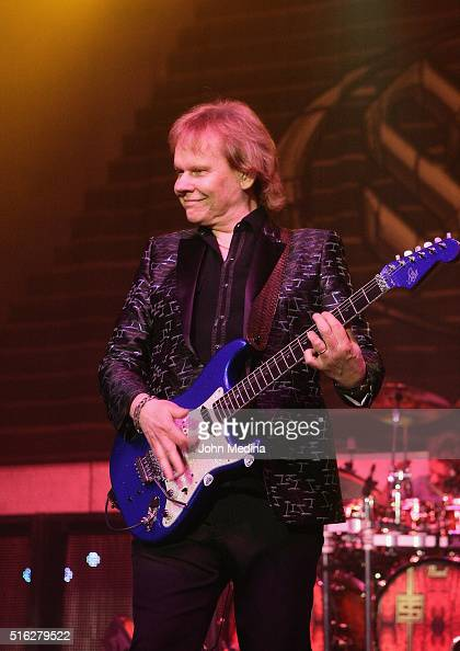 Guitatrist James Young of Styx perform at City National Civic on March 17 2016 in San Jose California