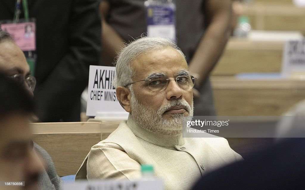 Gujarat Chief Minister Narendra Modi during the 57th National Development Council (NDC) meeting on December 27, 2012 in New Delhi, India.