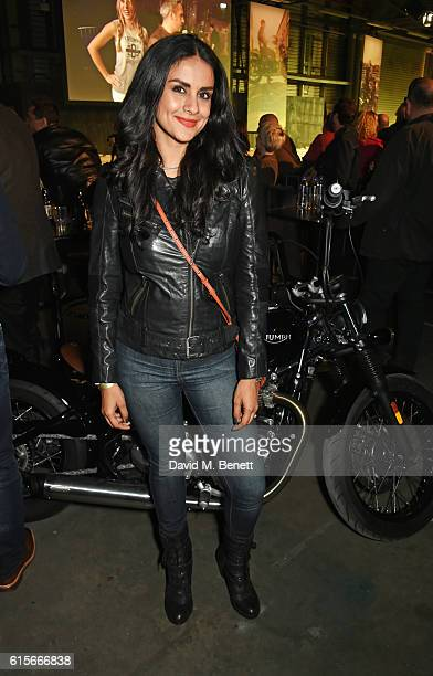 Gul Panag attends the Global VIP Reveal of the new Triumph Bonneville Bobber on October 19 2016 in London England