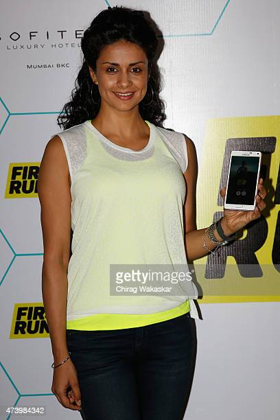 Gul Panag attends the launch of MobileFit's First Run Fitness App at Sofitel Hotel on May 19 2015 in Mumbai India