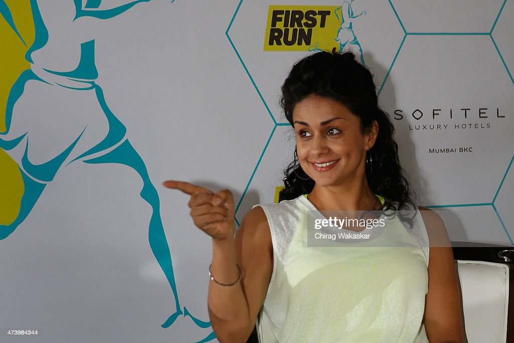 Gul Panag attends the launch of MobileFit's First Run Fitness App at Sofitel Hotel on May 19, 2015 in Mumbai, India.