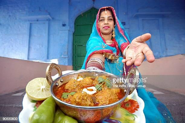 Gulab Jamun of fried vegetables in Rajasthan India
