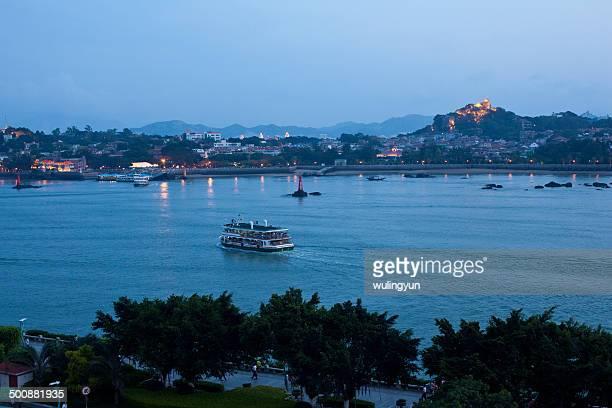 Gulangyu after sunset,Fujian