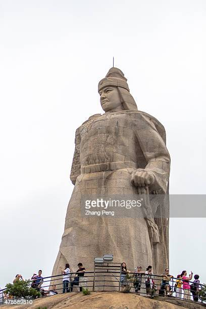 Gulangyu Island Statue of Koxinga facing Xiamen Koxinga a Ming loyalist and the chief commander defeating Dutch invading forces on Taiwan He had...