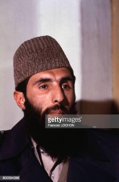 Gulbuddin Hekmatyar homme politique et militaire afghan chef du parti HezbeIslami en février 1980 en Afghanistan