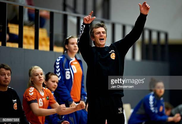 Guldbagerne Ligaen Coach Jan Laugesen HC Odense © Jan Christensen/Frontzonesport