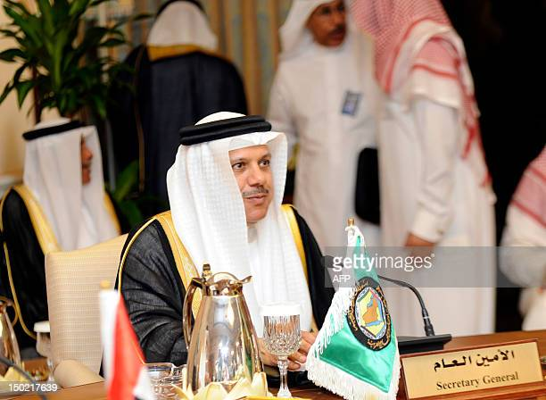 Gulf Cooperation Council Secretary General Abdelatif Zayani attends a ministerial meeting of the sixnation's grouping in the Red Sea Saudi port city...